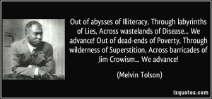 Out of abysses of Illiteracy, Through labyrinths of Lies, Across ...