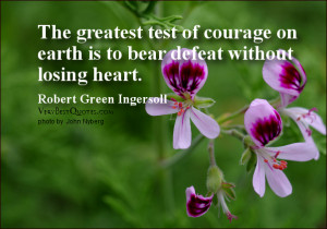 courage quotes, the greatest test of courage quotes