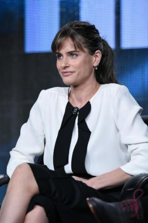 Amanda Peet speaks on stage at HBO 2015 Winter TCA on Thursday, Jan. 8 ...