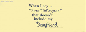 Best Friends Quotes Facebook Profile Cover Photo