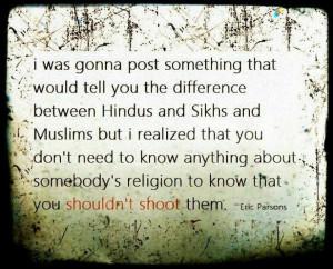 Different religions...