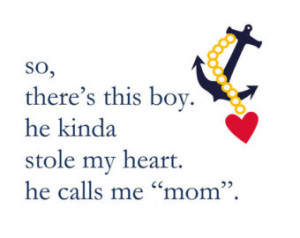 navy blue baby boy quote w ith anchor and heart