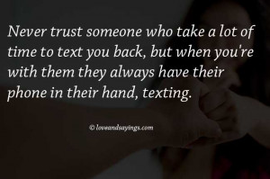 Never Trust Someone Quotes