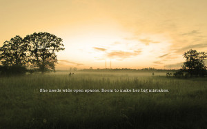 meadow, photography, quote, sky, trees, typography