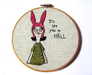 ... Belcher, Hoop Art, Inch Hoop, Belcher Quotes, Crosses Stitches, Bob'S