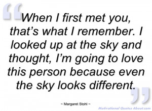 when i first met you margaret stohl