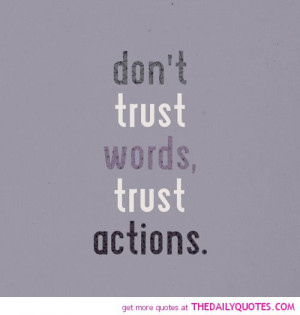 Don't Trust Words