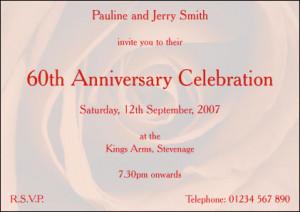 60th Wedding Anniversary Invitations Latest Wedding Anniversary ...