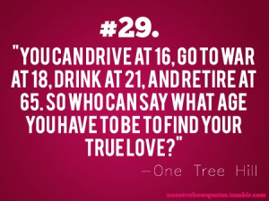 Mr. James- One Tree Hill Quote