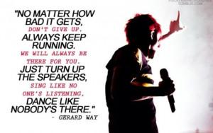 Gerard Way | inspirational Quote