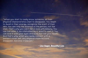 """quote:""""When you start to really know someone..."""
