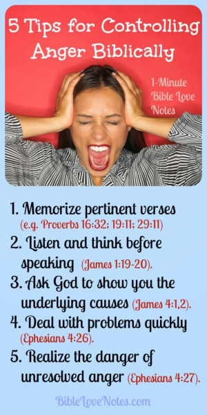 Anger, Biblical ways to manage anger, control temper, dangers of anger