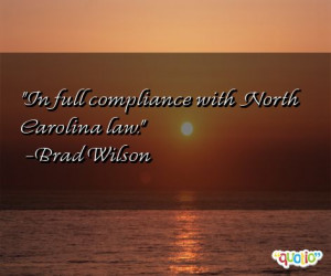In full compliance with North Carolina law. -Brad Wilson