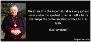 More Karl Lehmann Quotes