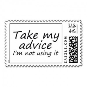 Funny office quotes joke humor postage stamps by Wise_Crack