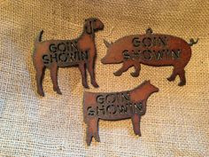 ... 4H FFA Goat Pig Swine Heifer Ornament Magnet by TheRusticBarnAZ, $4.50