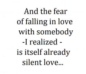 is falling in love second best is being in love least best is falling ...