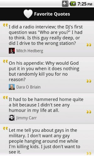 3000 jokes and funny quotes by 80 famous comedians like Mitch Hedberg ...