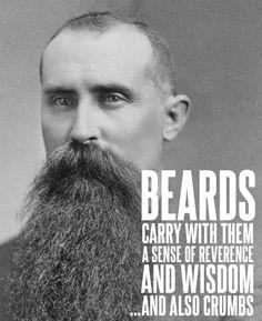 Bearded Gospel Men--so many funny quotes about beards! ha ha ha ha