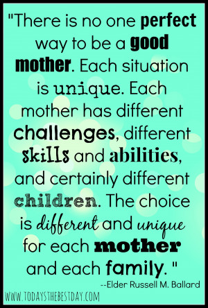 Cute Soon To Be Mommy Quotes Way to be a good mother