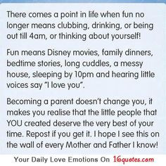 about yourself! Fun means disney movies, family dinners, bedtime ...