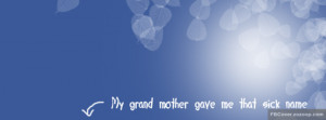 Grandmother Sick Name Facebook Cover Quotes Picture
