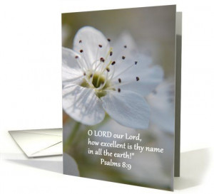 Apple Blossom - Bible Quote -Get Well card