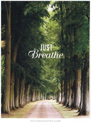 Just breathe Picture Quote #1