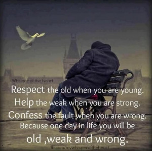 Respect The Old When