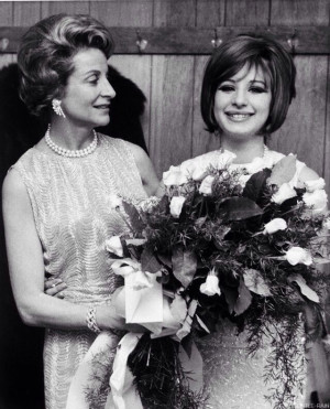 with Fanny Brice's daughter Frances Brice. Barbra portrayed Fanny ...
