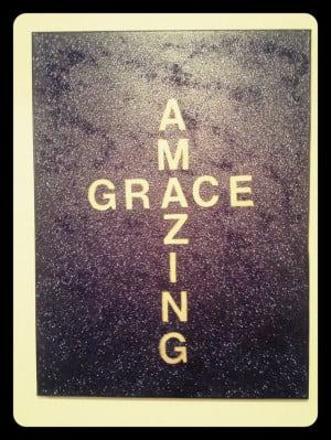 Amazing Grace quote with black/purple glitter by handmade91, $39.99