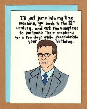 Buffy Birthday Card $4.00