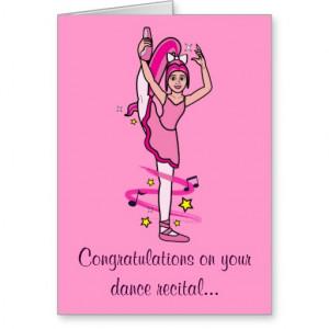 Congratulations Dance Recital Card