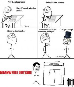 funny meme - boring classes