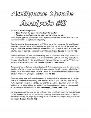 Dramatic Irony in Sophocles' Antigone