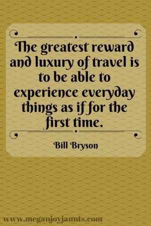 Bill Bryson Travel Quote