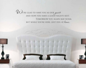 Our Guest Decal - Guest Room Dec or Door Decal Wall Vinyl Guest Room ...