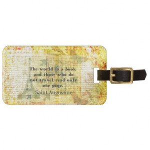Saint Augustine Quote about Travel Tags For Bags