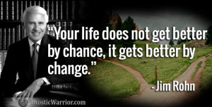 Jim Rohn: Your life does not get better by chance, it gets better by ...