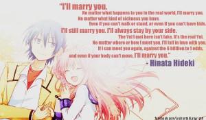 Angel Beats! quote (Hinata Hideki)