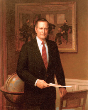 George Herbert Walker Bush and Barbara Pierce Bush