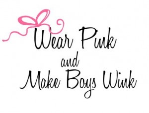 wear pink & make boys wink! love this!