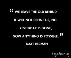 Yesterday is Gone! Now anything is possible! #Christian #Quotes #QOTD