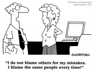 blaming others for mistakes