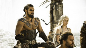 Khal Drogo and Dany are wed.