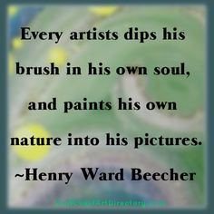 Art Quote by Henry Ward Beecher More
