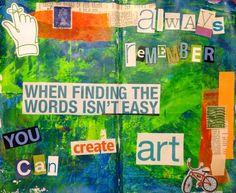 Art Therapy.... Art Journal page by Rachel Mims rachelmims.blogspot ...