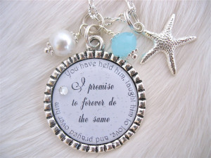 MOTHER of the GROOM Gift Bridal Inspirational quote pendant necklace ...