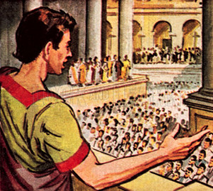 parody of marc antonys funeral speech julius caesar Get an answer for 'give a summary of mark antony's speech in julius caesar, mentioning some persuasive techniques found in it' and find homework help for other.