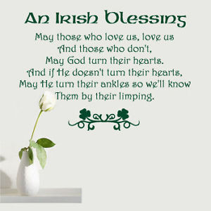 Wall Decals Irish Blessing